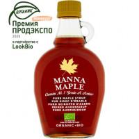 Кленовый сироп органик Manna Maple, Канада, ст.б, 250г