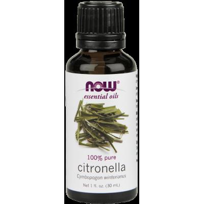 Цитронелла (100% эфирное масло) NOW, 30 мл