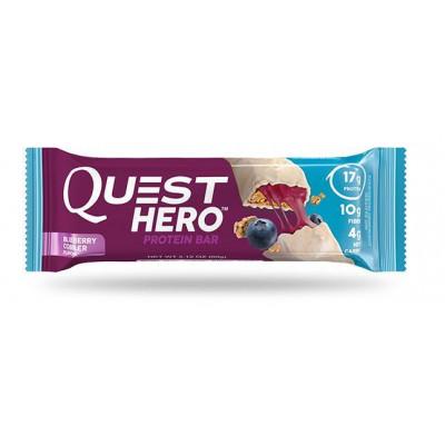 Протеиновый батончик Blueberry Cobbler Черничный пирог, Quest Hero Bar, 60 г