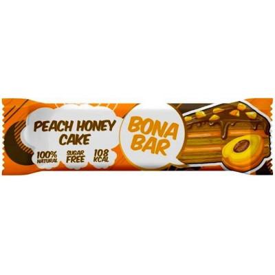 Батончик глазированный Bona Bar Персиковый Медовый Торт, Bona Fide,50 г