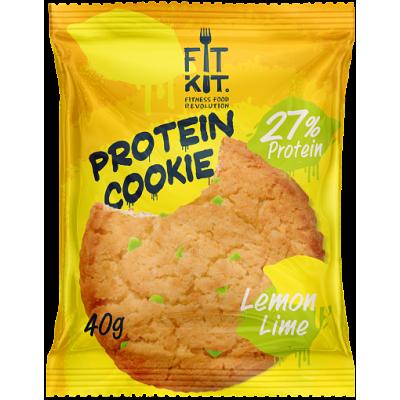 Протеиновое печенье Лимон-Лайм, FitKit, 40 г