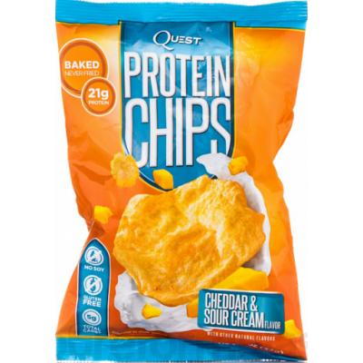 Протеиновые чипсы Сыр Чеддар и Сметана, Quest Nutrition, 32 г