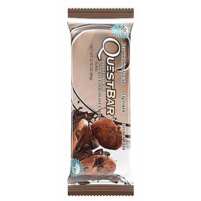 Протеиновый батончик Double Chocolate Chunk Двойное шоколадное печенье, Questbar , 60 г