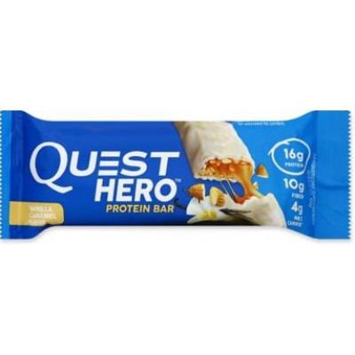 Протеиновый батончик Vanilla Caramel Ванильная карамель, Quest Hero Bar, 60 г