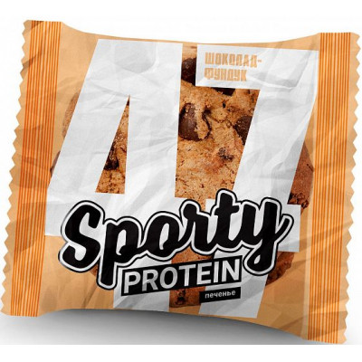 Печенье Sporty Protein Шоколад-фундук, Sporty, 65 г