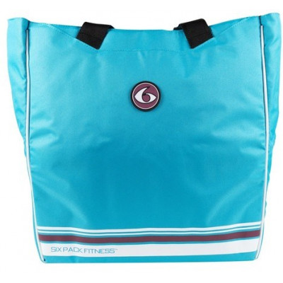 Женская сумка Camille Tote Blue/Wine (голубой/бордовый), 6 Pack Fitness