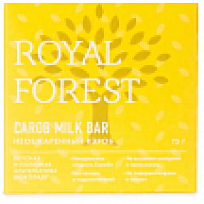 Шоколад молочный из кэроба, Royal Forest, 75 г