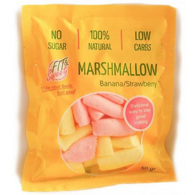 Маршмеллоу клубнично-банановый, Fit&Sweet, 50 г