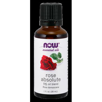 Роза (5% эфирное масло) NOW, 30 мл