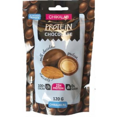 """Драже протеиновое """"Миндаль в шоколаде"""", ChikaLab, 120 г"""