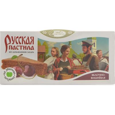 Пастила Русская Яблочно-вишневая без сахара, Эко Пастила, 45 г