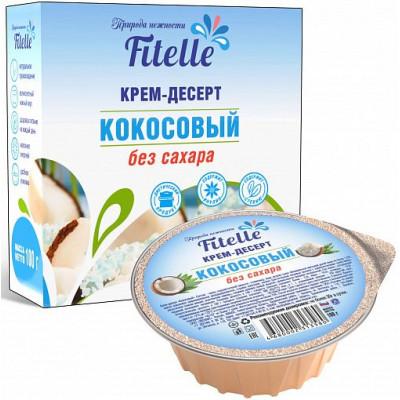 """Крем-десерт """"Кокосовый"""", Fitelle, 100 г"""