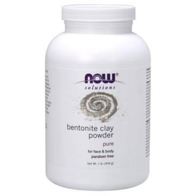 Бентонитовая глина (порошок) NOW, 454 г