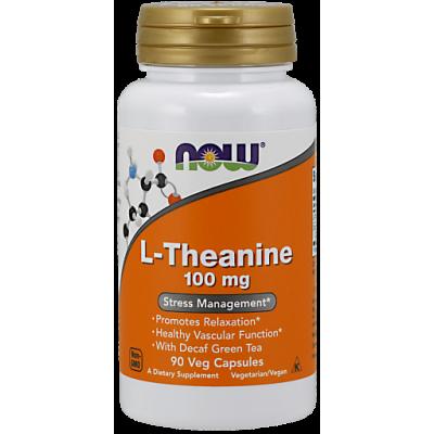 Тианин NOW 100 мг, 90 капс.