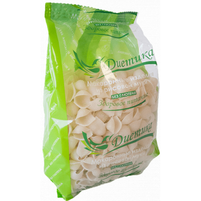 Рисовые макароны Ракушка, Диетика, 250 г