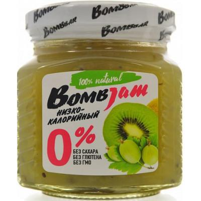 Джем низкокалорийный Киви-Крыжовник, BombJam, 250 г