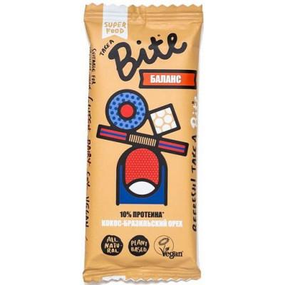 Батончик с протеином БАЛАНС Кокос-Бразильский орех, Bite, 45 г