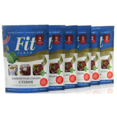 Упаковка 6 шт Дой-Пак 150 гр. - Заменитель сахара ФитПарад №14 на эритритоле и стевии