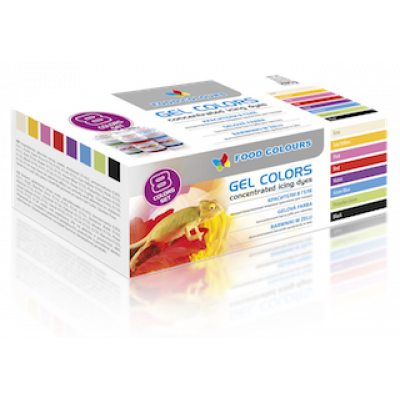 Набор гелевых красителей Food Colours 8 шт по 35 гр.