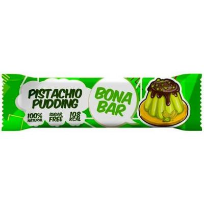 Батончик глазированный Bona Bar Фисташковый пудинг, Bona Fide, 50 г