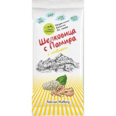 Натуральный батончик из сушеных ягод Шелковицы с имбирем, Дары Памира, 20 г