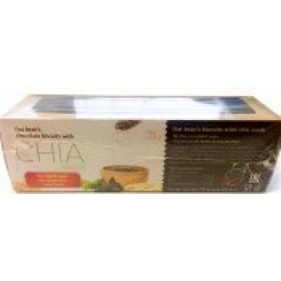Печенье шоколадное из овсяных отрубей с семенами Чиа, Fit&Sweet, 50 г