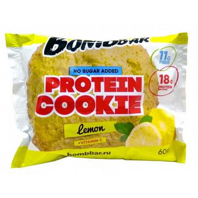 Печенье протеиновое Лимон, Bombbar, 60 г
