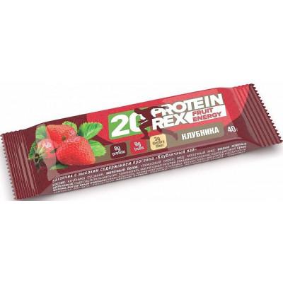Батончик протеиновый Клубничный пай FRUIT ENERGY 20%, ProteinRex, 40 г