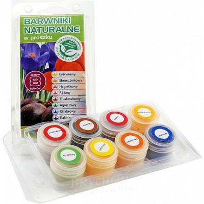 Набор красителей сухих натуральных Food Colours 8 шт по 4 гр