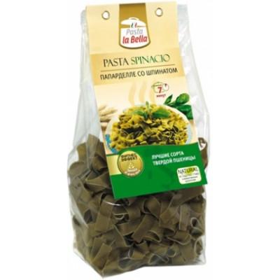 Папарделле со шпинатом LA BELLA, Гурмайор, 250 г