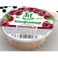 Конфитюр вишневый со стевией, FitDelice, 100 г