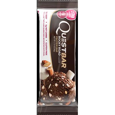 Протеиновый батончик Rocky Road (шоколад, миндаль, зефир), Questbar, 60 г