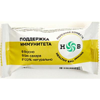 Полезные конфеты HealthyBall Immuno new, Здоровое Питание, 30 г (15 г * 2 шт)