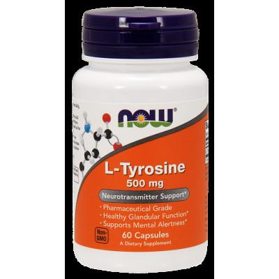L-Тирозин NOW, 500 мг, 60 капс.