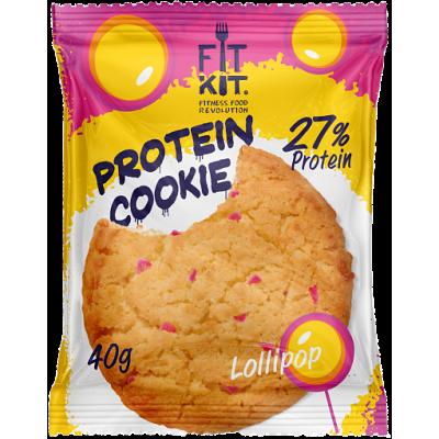 Протеиновое печенье LolliPop (леденец), FitKit, 40 г