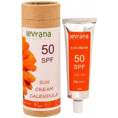 Солнцезащитный крем для тела Календула 50 SPF PINK, Levrana, 50 мл