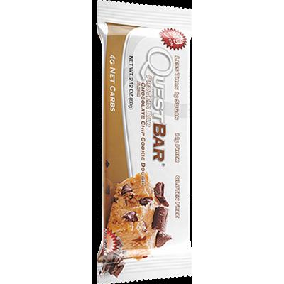 Протеиновый батончик Chocolate Chip Cookie Dough Шоколадное печенье, Questbar, 60 г