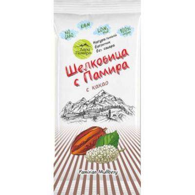 Натуральный батончик из сушеных ягод Шелковицы с какао, Дары Памира, 20 г