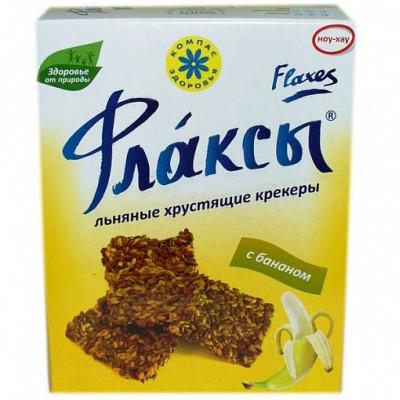 Флаксы с бананом льняные, Компас Здоровья, 150 г