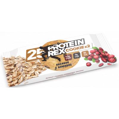 Протеиновое печенье Овсяное с клюквой 25%, ProteinRex, 2*25 г