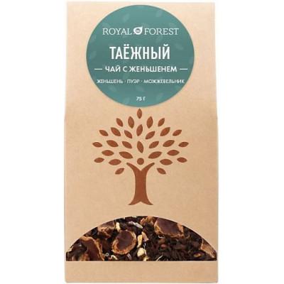Таёжный чай с женьшенем, Royal Forest, 75 г