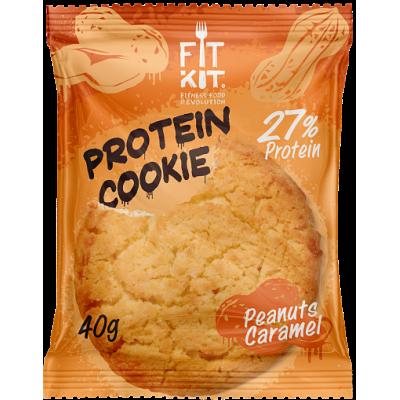 Протеиновое печенье Арахис-Карамель, FitKit, 40 г