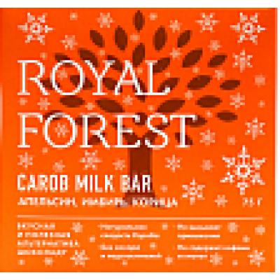 Шоколад из кэроба с апельсином, имбирем и корицей, Royal Forest, 75 г