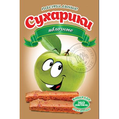 Пастильные сухарики Яблочные, Эко пастила, 60 г