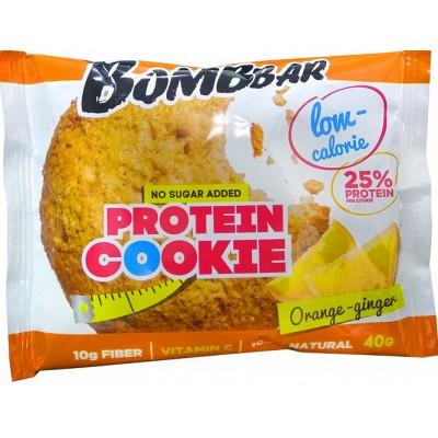 Печенье низкокалорийное протеиновое Апельсин-Имбирь, Bombbar, 40 г