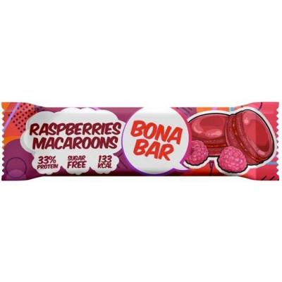 Батончик неглазированный Bona Bar Малиновый Макарун, Bona Fide, 50 г