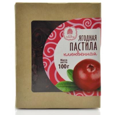 Пастила без сахара Клюквенная, Сибирский кедр, 100 г