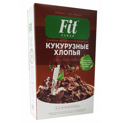 "Кукурузные хлопья ""Шоколад"" со стевией, ФитПарад, 200 г"