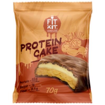 Протеиновое пирожное Арахисовая паста, FitKit, 70 г