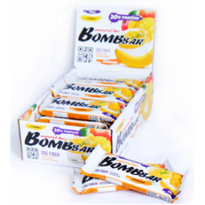 Протеиновый батончик Банан-Манго, Bombbar, 60 г